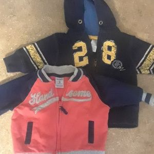 Carters 3mnth zip jacket set